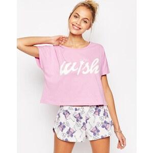 ASOS I Wish Fairy Schlafanzugset mit T-Shirt und Shorts - Mehrfarbig