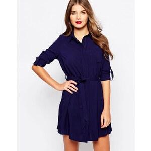 Club L - Robe chemise décontractée - Bleu marine