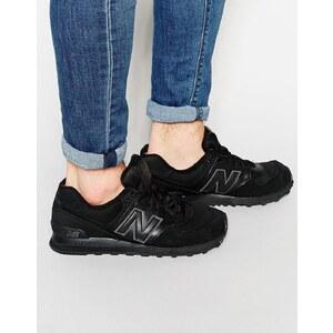 New Balance - 574 - Einfarbige Sneakers - Schwarz