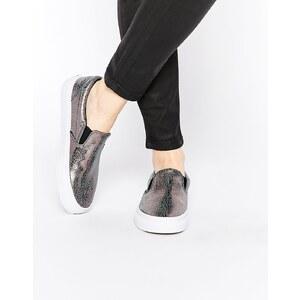 Vans - Klassische Slipper-Sneakers in Strahlgrau - Graphit
