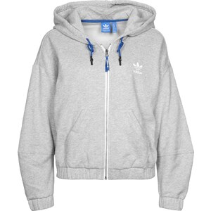 adidas Train Snap W sweat zippé à capuche medium grey heather