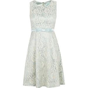 Fever London Kleid aus floraler Spitze mit Zierschleife