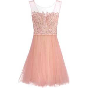 Luxuar Fashion Cocktailkleid / festliches Kleid apricot/nude