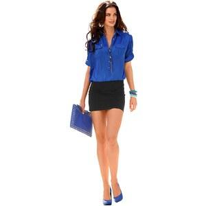 Laura Scott Hemdblusenkleid 2-in-1-Look, blau