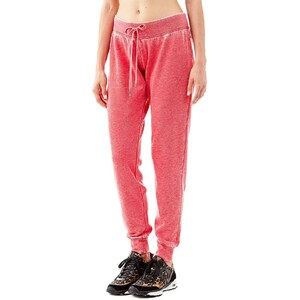 Guess Hose »Iconic Fleece«, rot