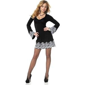 Melrose Shirtkleid mit Trompetenärmeln, schwarz