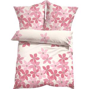 bpc living Bettwäsche Blume, Microfaser in rosa von bonprix