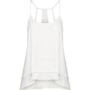 RAINBOW Blusentop ohne Ärmel in weiß für Damen von bonprix