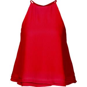 BODYFLIRT Chiffon Top in rot von bonprix
