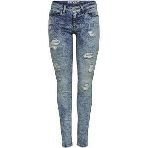 Only Carrie Low Skinny Used-Effekt Jeans