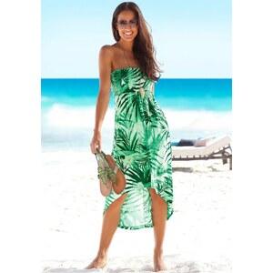 Beachtime Beach Time Strandkleid mit Palmendruck, grün