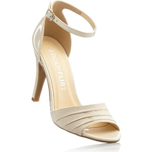 BODYFLIRT Sandales beige avec 10 cm haut talonchaussures & accessoires - bonprix