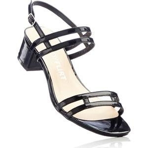 BODYFLIRT Sandales noir avec 5 cm talon carréchaussures & accessoires - bonprix