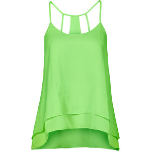 RAINBOW Top-blouse vert sans manches femme - bonprix