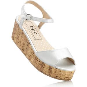 bpc bonprix collection Sandales gris avec 5 cm talon compenséchaussures & accessoires - bonprix