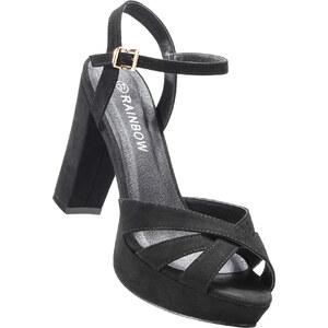 RAINBOW Sandales à plateau noir avec 11 cm plateauchaussures & accessoires - bonprix