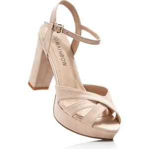 RAINBOW Sandales à plateau beige avec 11 cm plateauchaussures & accessoires - bonprix