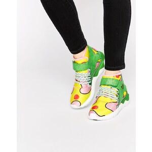 adidas Originals by Jeremy Scott - Röhren-Sneakers mit Blumenmuster - Mehrfarbig