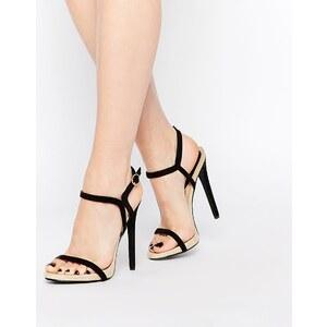Daisy Street - Sandales minimalistes en deux parties à talons - Noir