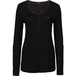 BODYFLIRT T-shirt manches longues noir femme - bonprix