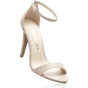 BODYFLIRT Sandalette mit 10 cm High-Heel in beige von bonprix