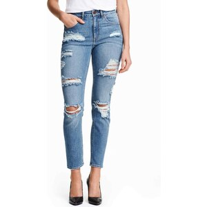 H&M Jean Slim High Ankle Trashed