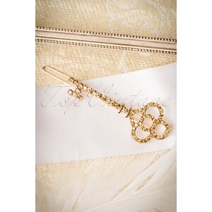 Celestine 30s Key To My Heart Hair Clip in Gold