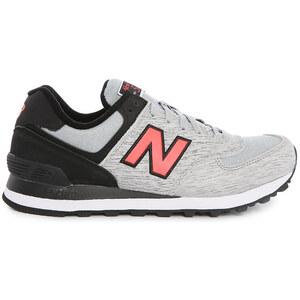 NEW BALANCE Sneaker 574 aus Veloursleder in Grau und Schwarz
