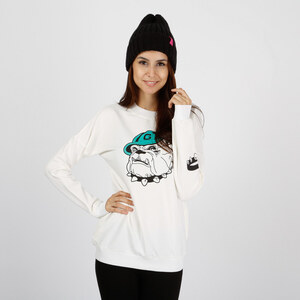 Lesara Sweatshirt avec imprimé bouledogue