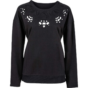 RAINBOW Sweatshirt mit Cut Outs in schwarz für Damen von bonprix