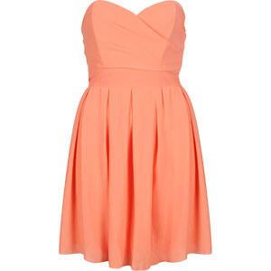 Topshop Bandeau-Kleid aus Chiffon von TFNC - Korall
