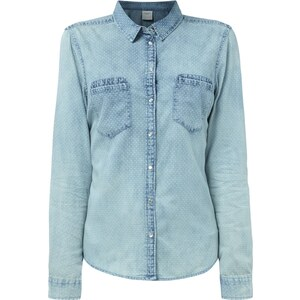 Vero Moda Bluse in Jeansoptik mit Allover-Muster