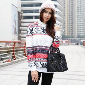 Lesara Sweatshirt à capuche avec motif norvégien