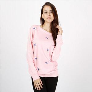 Lesara Sweatshirt mit Vögelchen-Print - M