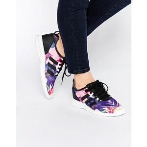 adidas Originals - ZX Flux - Sneakers mit Vogeldesign - Schwarz bedruckt