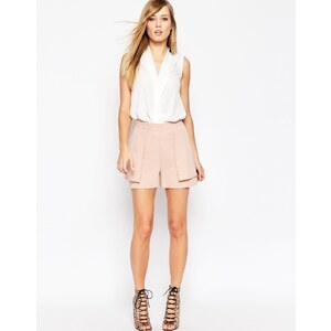 ASOS - Shorts in A-Linie mit Oberlage - Nude