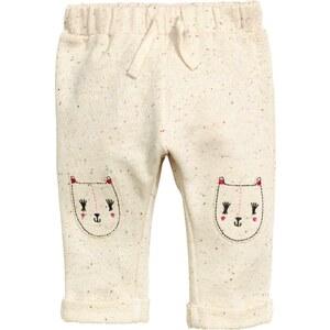 H&M Pantalon en molleton brodé