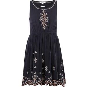 REVIEW Kleid mit Gummizug und Ethno-Stickereien