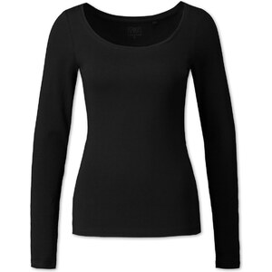 C&A Damen Longsleeve aus Bio-Baumwolle in Schwarz