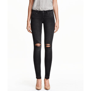 H&M Super Skinny Low Ripped Jeans