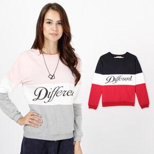 Lesara Sweatshirt tricolore Different