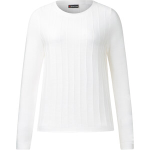 Street One - Pull côtelé texturé Robby - blanc