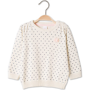 C&A Baby-Pullover in cremefarben