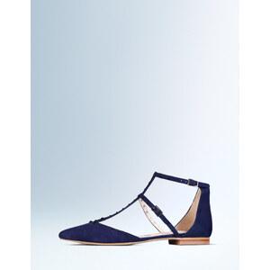 Flache Bonnie Schuhe mit Nietenbesatz Navy Damen Boden