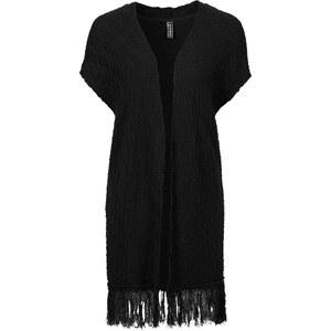 RAINBOW Gilet en maille manches courtes noir femme - bonprix