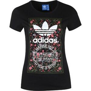 ADIDAS ORIGINALS adidas Floral Print Tongue Label T Shirt Damen