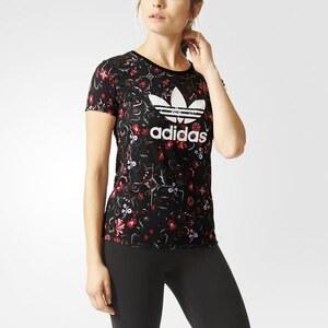 adidas T-shirt Floral Allover Print Trefoil