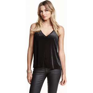 H&M Top en velours