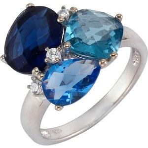 FIRETTI Ring mit Zirkonia und Glasstein