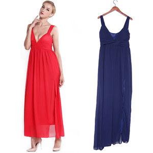 Lesara Abendkleid mit sexy Ausschnitt - Rot - S